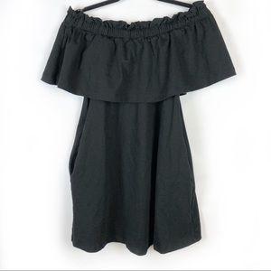 H&M Black Off The Shoulder Dress with Pockets